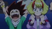 Ichika and Taka cheering