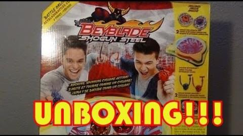 *NEW Beyblade Shogun Steel Samurai Cyclone Battle Set- UNBOXING!