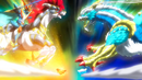 Beyblade Burst Gachi Slash Valkyrie Blitz Power Retsu vs Ace Dragon Sting Charge Zan