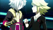 Fubuki and Suoh friendly smiles