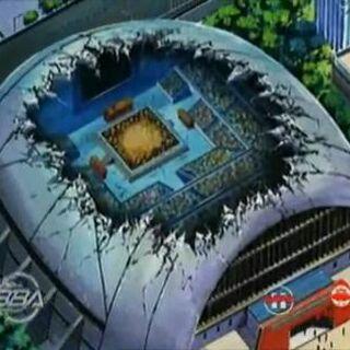 Das Stadium nach dem Kampf von Tyson und Kai.