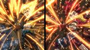 Rantaro and Hyuga Sparking Shoot