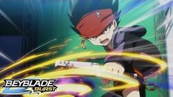 BEYBLADE BURST Episode 3- Blast Off! Rush Launch!