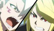 Suoh and Fubuki clash
