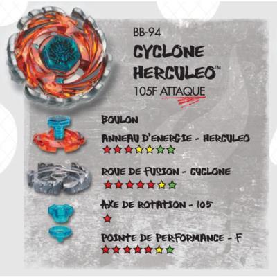 Beyblade Cyclone Hercule 105F BB94 Hasbro 36495
