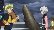 Shu and Rantaro talking