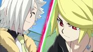 Suoh and Fubuki face off