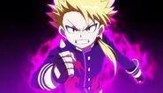 Wakiya's raging purple aura