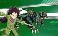 Beyblade Burst Ken Midori and King Kerbeus Avatar USA Website Poster