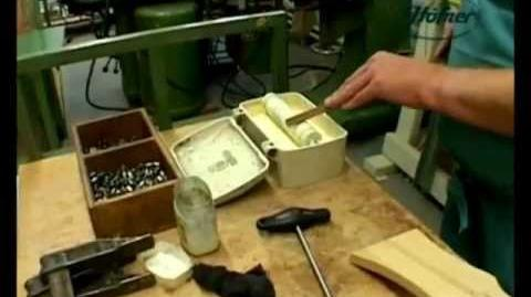 A 17 minute video showing a Hofner being made