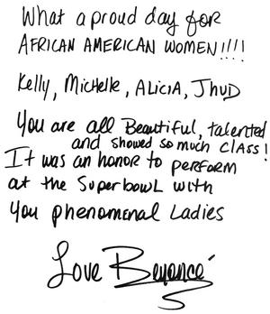 Beyonce SB 1