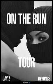 On the Run Tour poster
