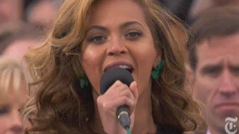 Beyonce Sings the National Anthem at the 2013 Inauguration of Barack Obama