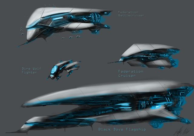 File:Federation spaceships by peterprime-d5dgxwb.png