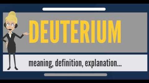 What is DEUTERIUM? What does DEUTERIUM mean? DEUTERIUM meaning, definition & explanation
