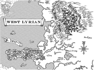 West lyrian map