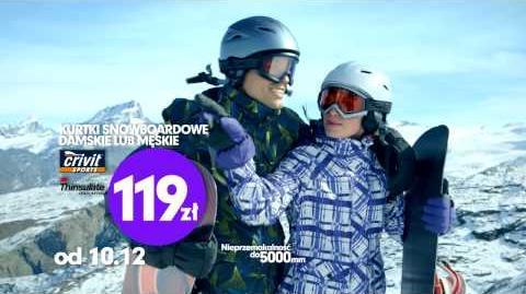Reklama Lidl - Odzież snowboardowa - od 10
