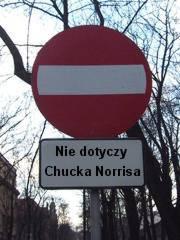 Nie dotyczy Chucka Norrisa