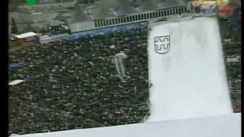 Frank Loeffler 45m - Innsbruck K108 2001 - dangerous crash