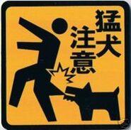 Chiński znak - gryzący pies