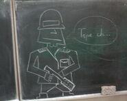 Kapitan Bomba w szkole