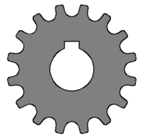 Sprocket parallel keyway