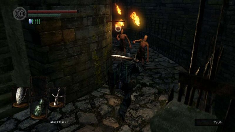 Undead Burg hollows torches Black Knight Sword