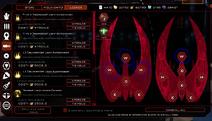 Cylon Equip Items Screen