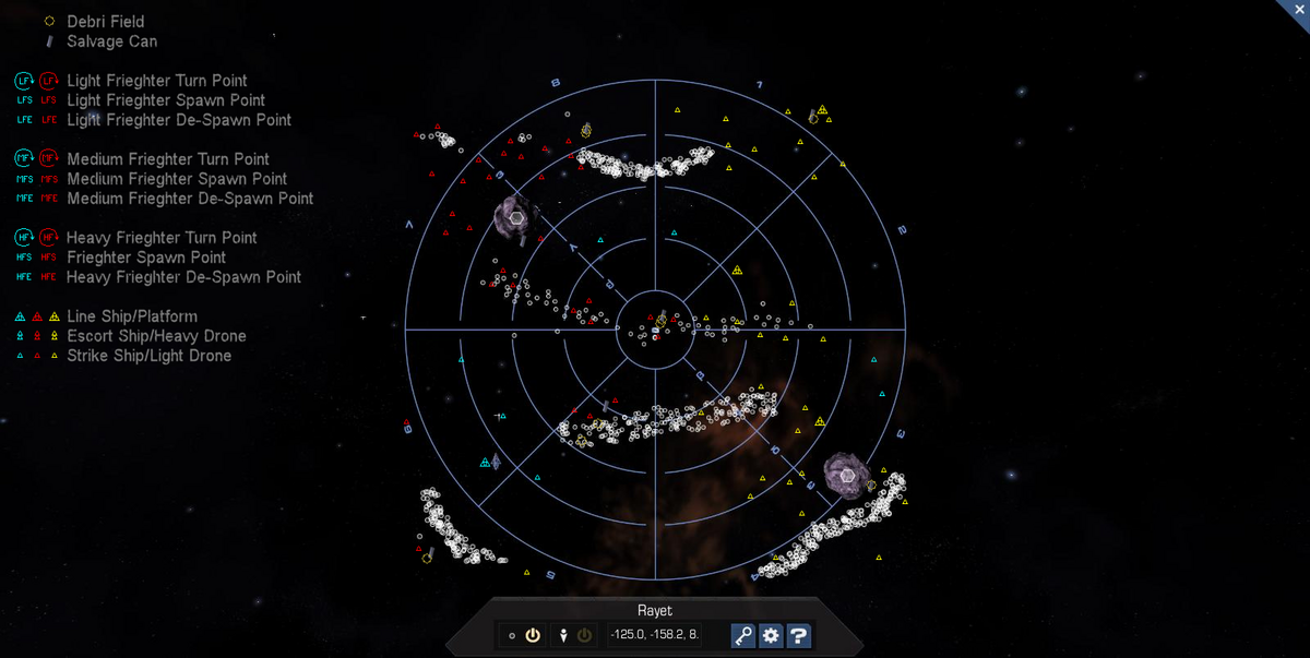 Rayet 3D System Map