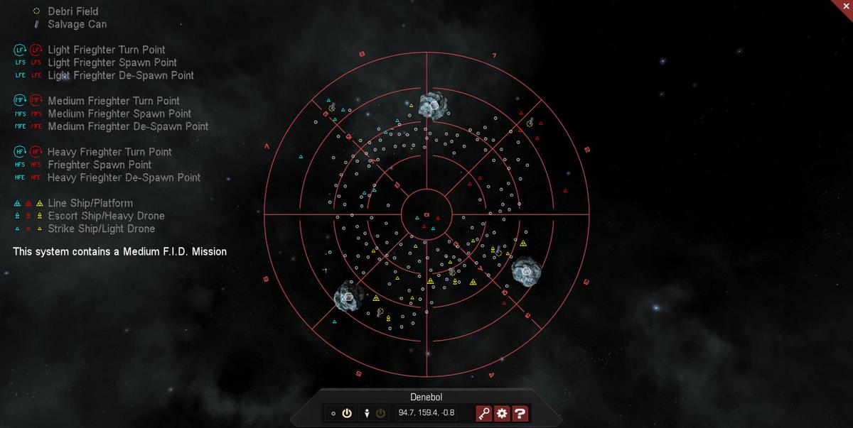 Denebol 3D System Map