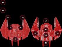 Cylon War Raider Mark II Systems