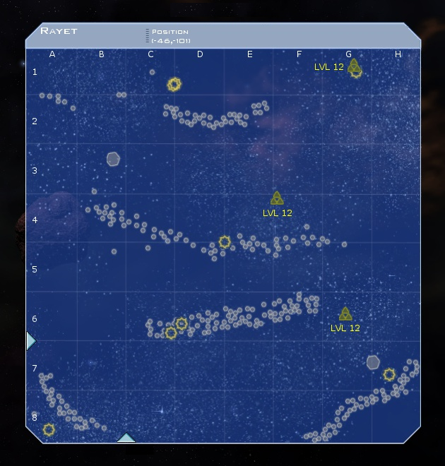 Rayet System Map