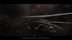 Basestar Cinematic Landing Cut Scene Image No 01