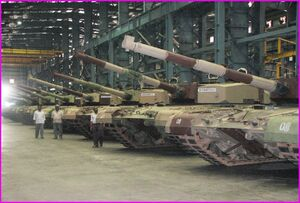 Arjun tank assembly line HVF Avadi
