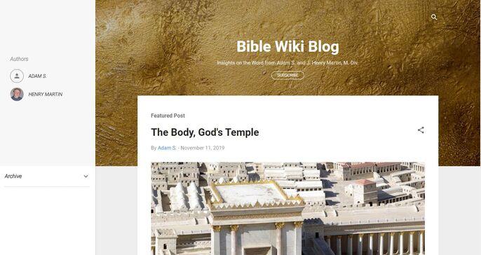 New Blog Screenshot