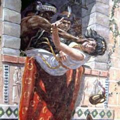 Another depiction of Queen Jezebel's death