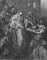 Dore 40 Matt14 Herods Daughter Receives Head