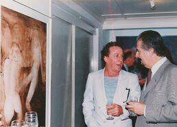 Con Fernando Botero en la Galería MTD