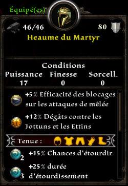 Heaume du Martyr