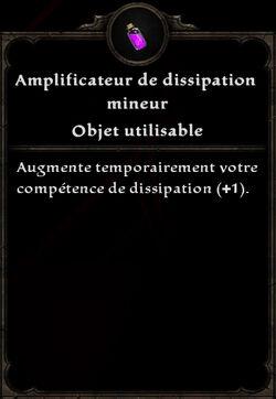 Amplificateur de dissipation mineur