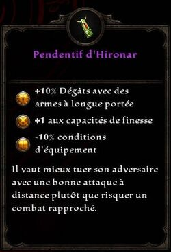 Pendentif d'Hironar