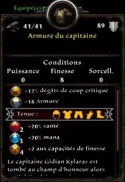 Armure capitaine