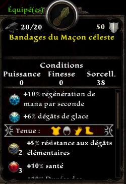 Bandages du Maçon céleste