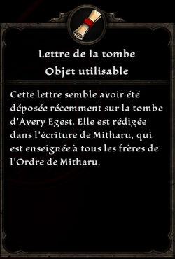 Lettre de la tombe