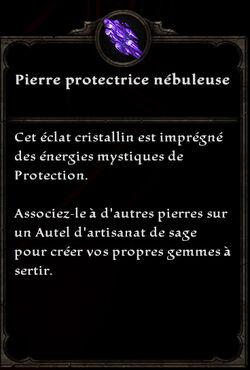 Pierre protectrice nébuleuse