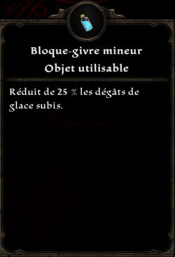 Bloque-givre mineur