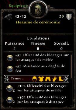 Heaume Cérémonie
