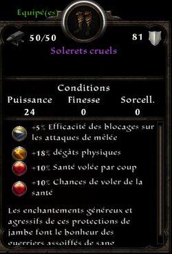 Solerets cruels stats