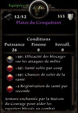 Plates du Conquérant stats