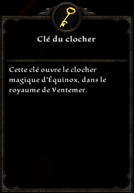 Clé du clocher